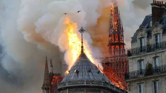 Donald Trump encourages France to use 'flying water tankers' as Paris' Notre Dame Cathedral remains engulfed in flames