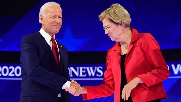 Joe Biden and Elizabeth Warren separate themselves from the 2020 Democratic pack in new NBC/WSJ poll