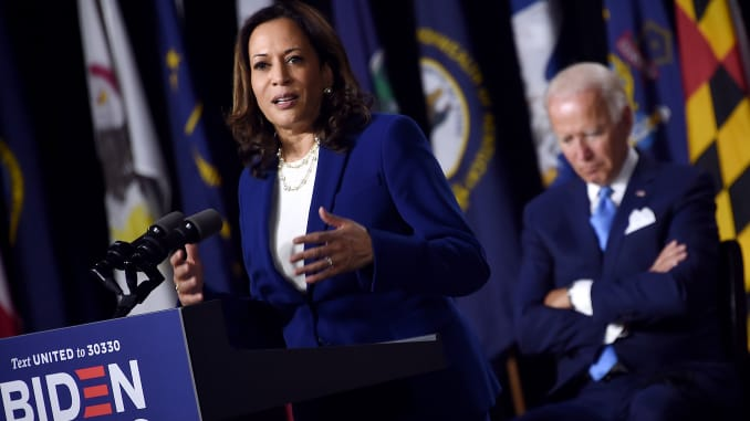 The case against Trump is 'open and shut,' says Kamala Harris in her first speech as Biden's VP pick