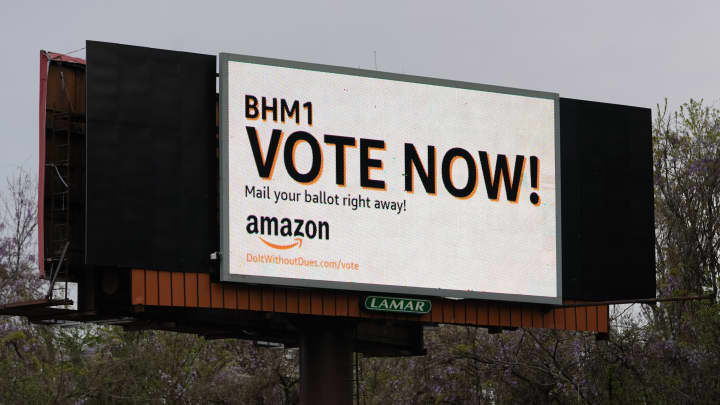 Amazon wins enough votes to beat union effort in Alabama